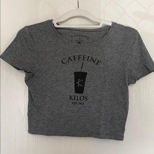 Caffeine and Kilos Cold Cup Crop Top